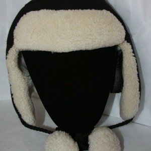 Coach Sheepskin Trapper Hat Black  Retail 375.00